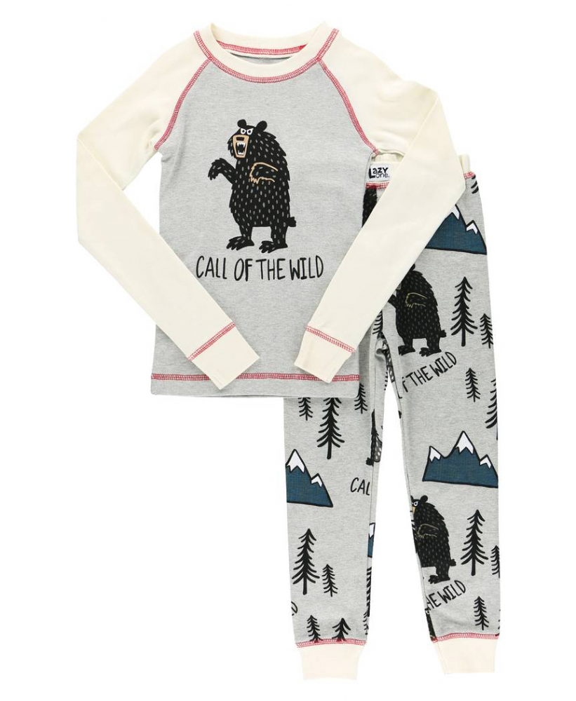 Call of the Wild - Kids Long Sleeve Bear PJ Set - Lazy One®